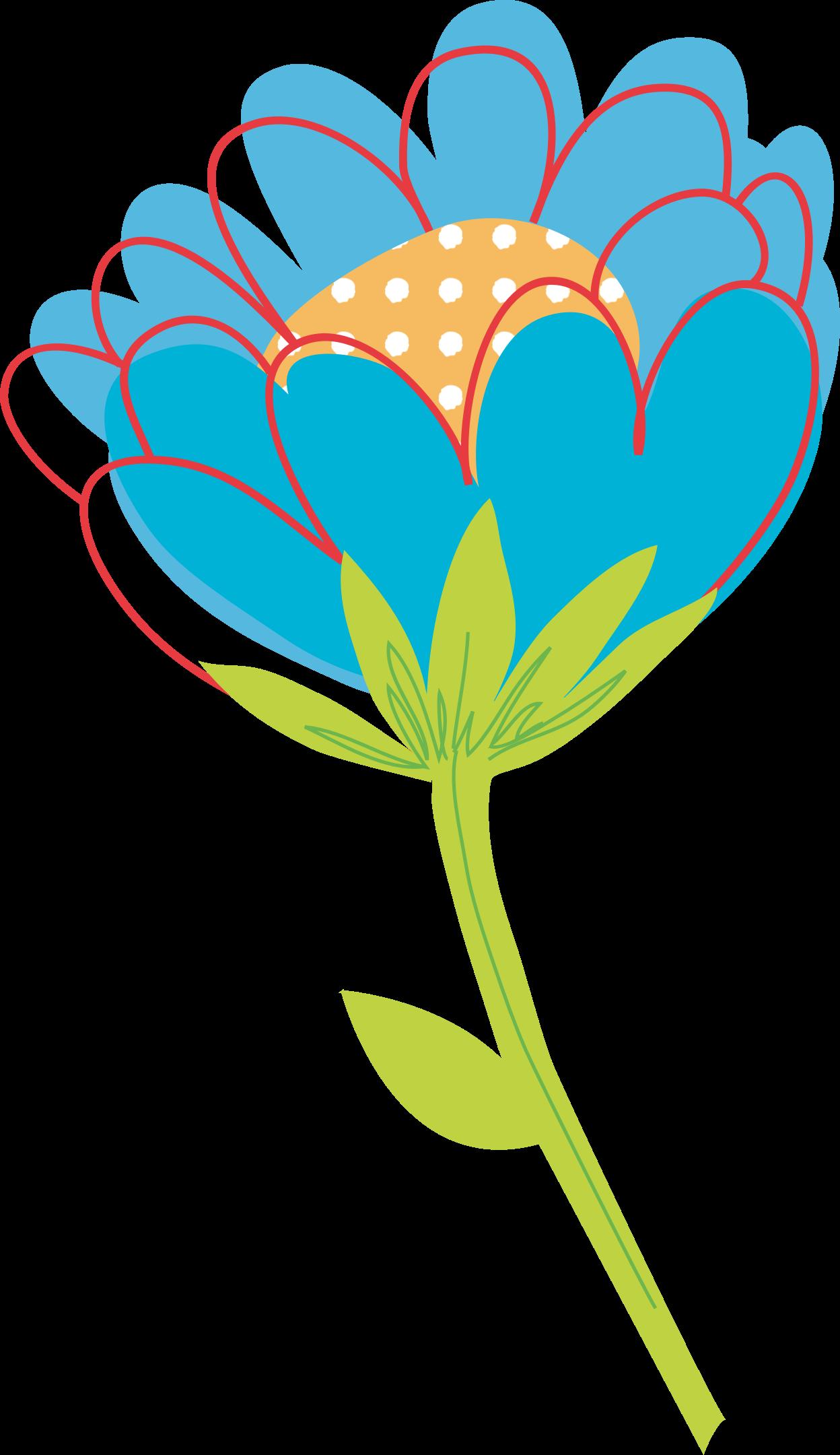 Blue Flower Vector By Konand Bloomed Blue Single Flower Clipart