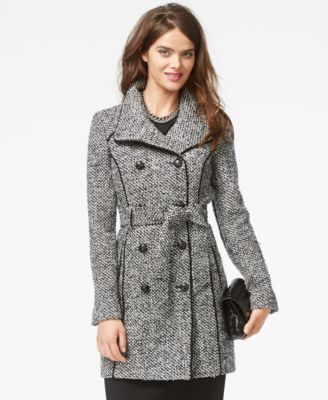 Guess Textured Belted Trench Coat