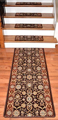Best Dean Premium Carpet Stair Treads Persian Crown Dark 400 x 300