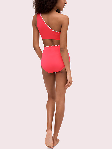 c42203a85c Kate Spade Scallop Wave High-waist Bottom, Bright Peony - Size L in ...