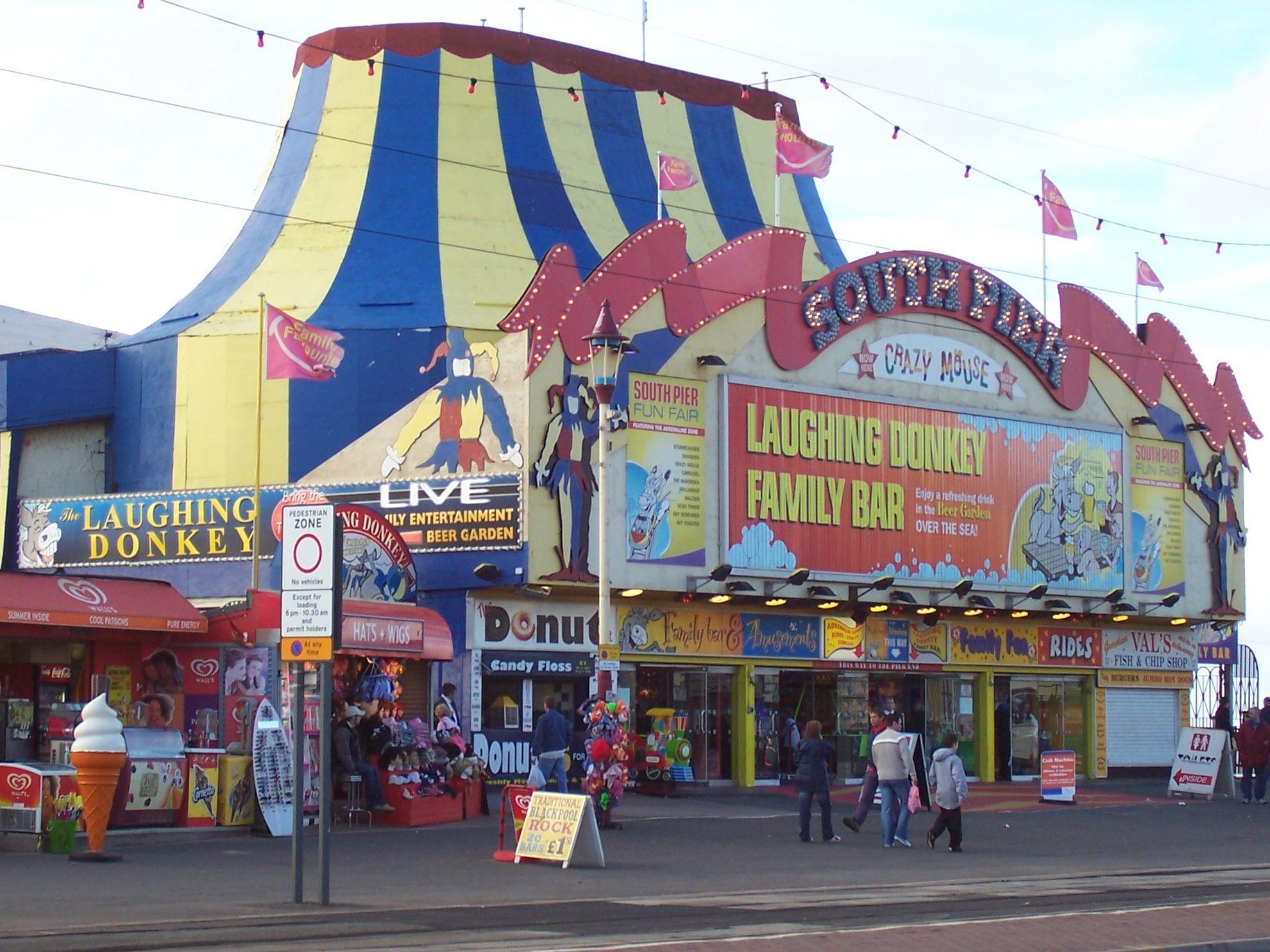 south pier at Blackpool England united kingdom