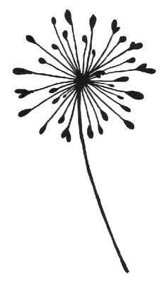 dandelion silhouette clip art google search graphics rh pinterest com dandelion clipart free dandelion clipart black and white