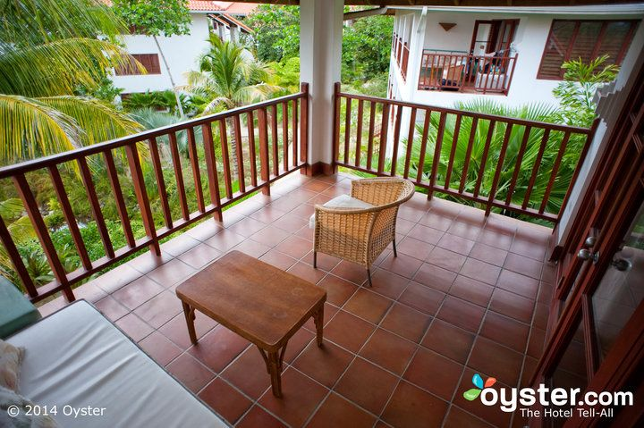 Balcony at The Garden Verandah Suite at Couples Swept Away Negril