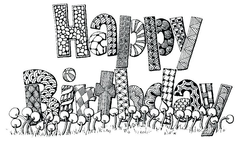 Take A Look At These Happy Birthday Coloring Pages Free Coloring Sheets Happy Birthday Coloring Pages Birthday Coloring Pages Happy Birthday Doodles