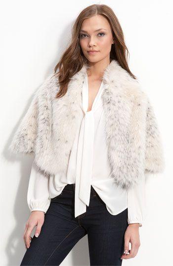 love this faux fur cape