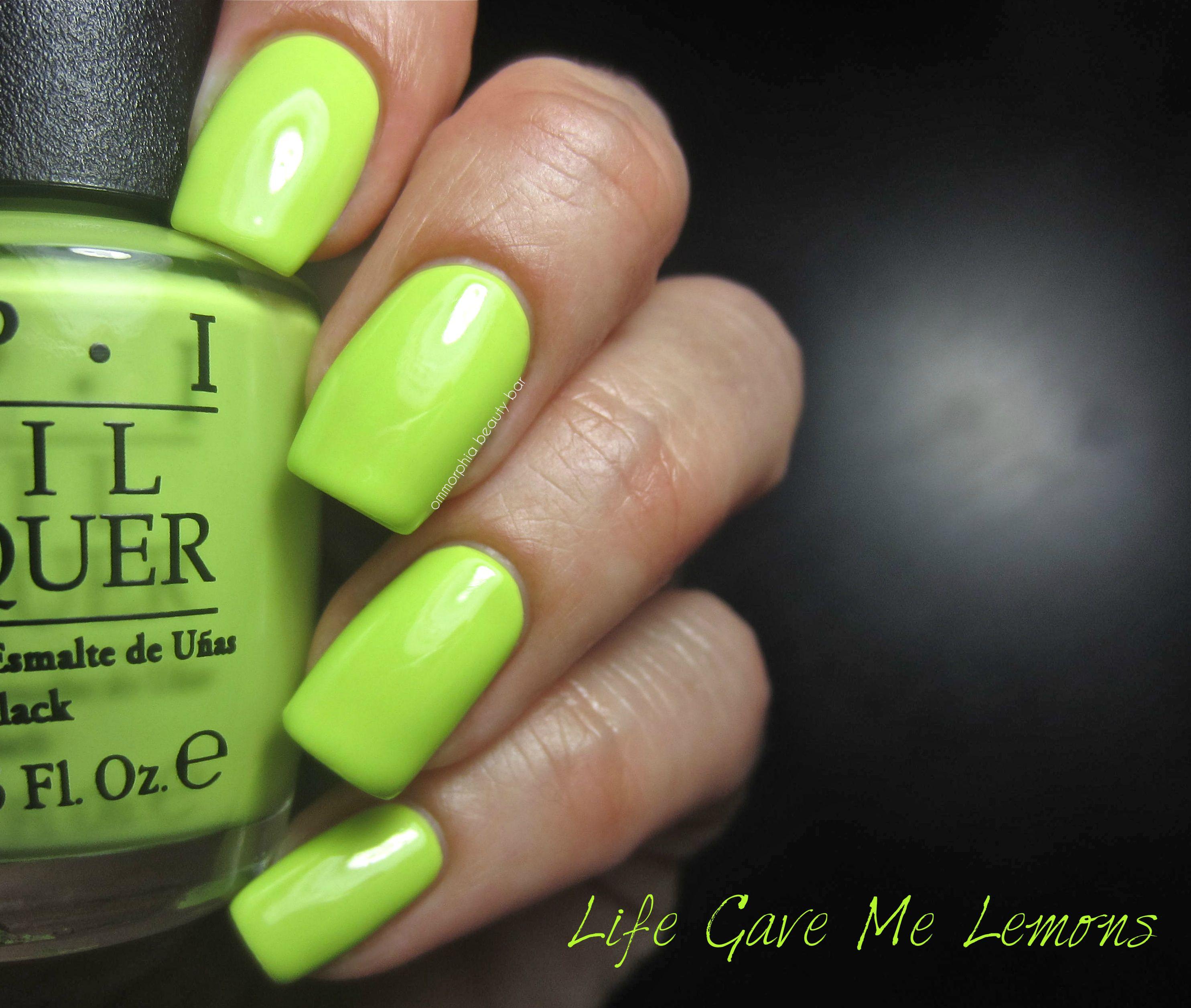 OPI neons - life gave me lemons , in gel color | You should\'ve seen ...