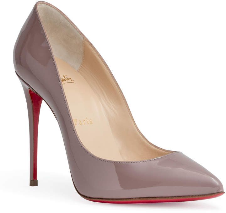 f5b8c80598 Christian Louboutin Pigalle Follies 100 dusty #pink patent #pumps. Dusty pink  patent leather pumps from Christian Louboutin. The Pigalle Follies pump has  a ...