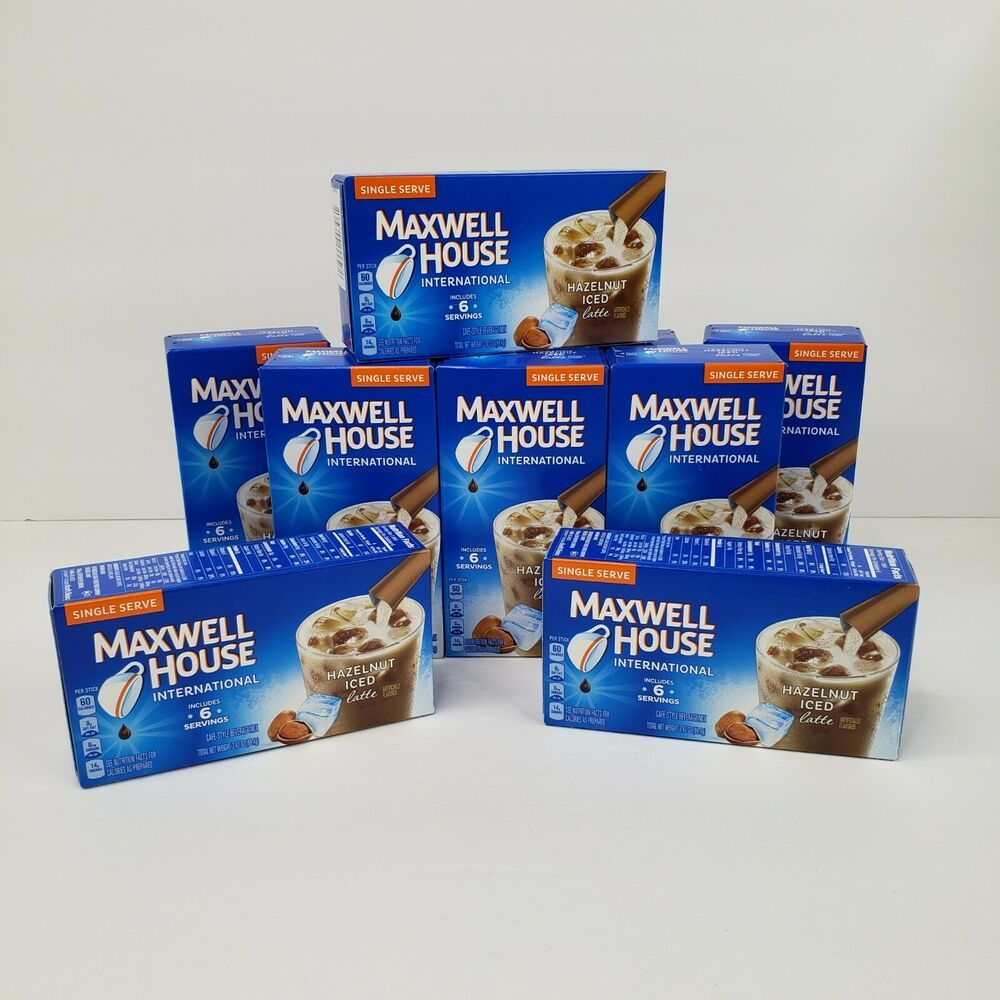 10 Boxes Maxwell House International Coffee Hazelnut Iced