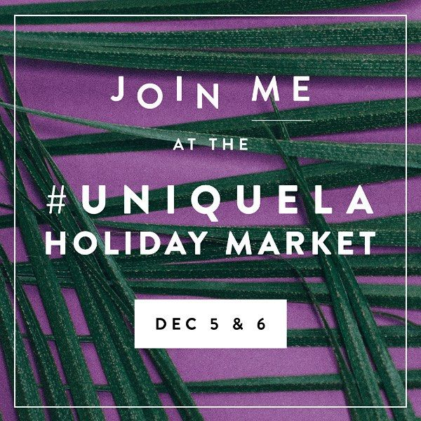 It's official. Our first ever show will be the Unique holiday market. Now the holiday pressure is really on! by clarkecollective