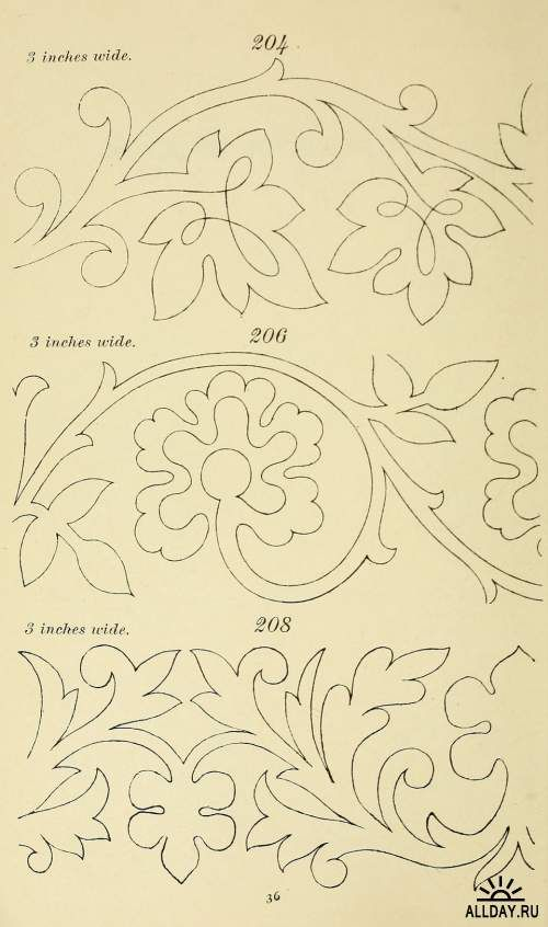 Briggs\' patent transferring designs | Bordado | Pinterest | Bordado ...