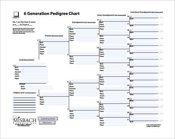 Pedigree Chart Template u2013 8+ Free Word, Excel, PDF Format Download - free charts templates