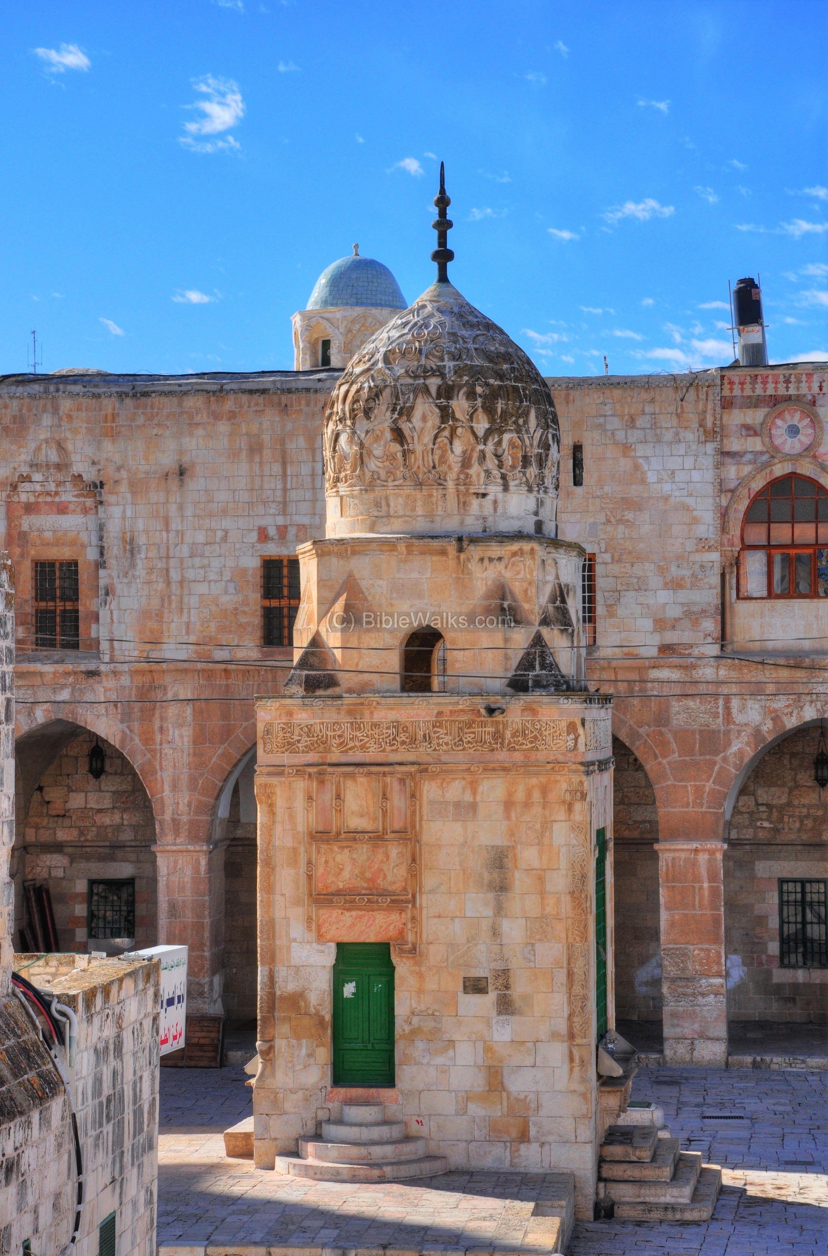 Jerusalem, Qa'itbay's fountain on the Haram al-Sharif, 1482