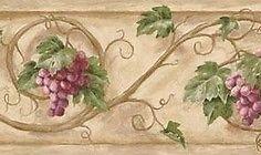 Tuscan Grapevine Scroll Wallpaper Border Br Clearance Quantities Limited Grape Vine Decor Grape Decor Grape Vines