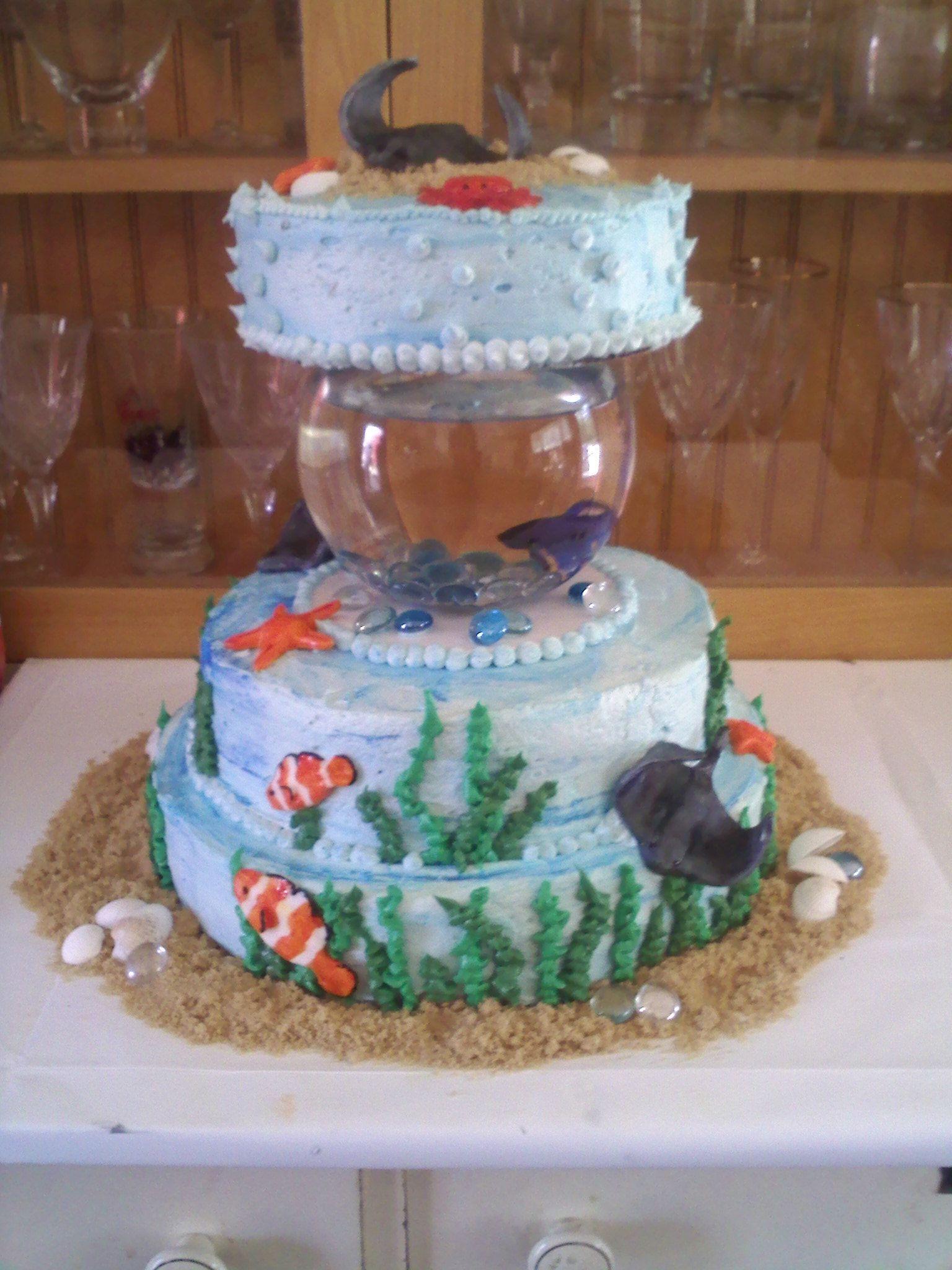 Betta fish birthday cake cakes pinterest fish for Fish birthday cakes