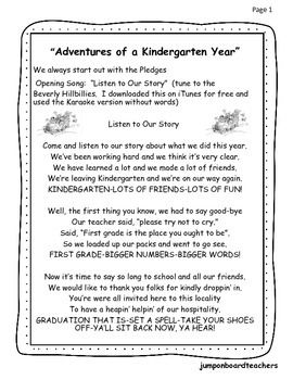 Graduation Program Adventures Of A Kindergarten Year