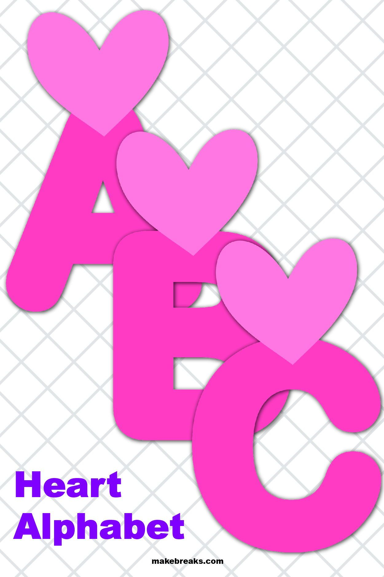 Free Printable Alphabet For Valentine S Day Pattern 2