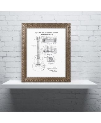Claire Doherty '1955 Mccarty Gibson Guitar White' Ornate Framed Art - 11 x 14 - Multi #gibsonguitars