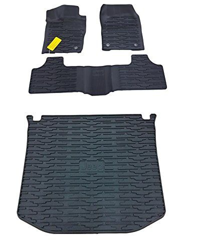 Jeep Grand Cherokee Rubber Slush Floor Mats And Cargo Tray Liner