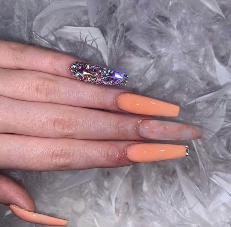 nails in 2020 Long acrylic nails, Swag nails, Sharpie nails