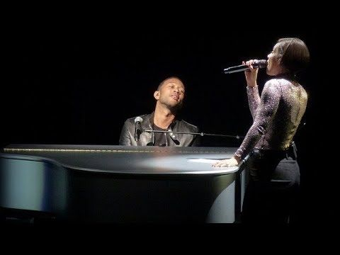 Alicia Keys And John Legend Performs Let It Be At Grammy Salute