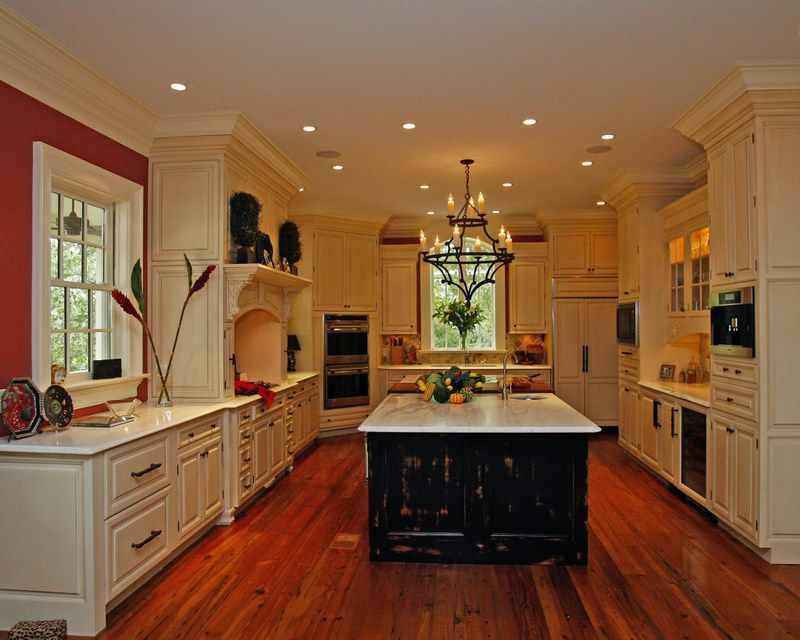 Kitchen, Black Marble Countertop High Glass Door Kitchen ...