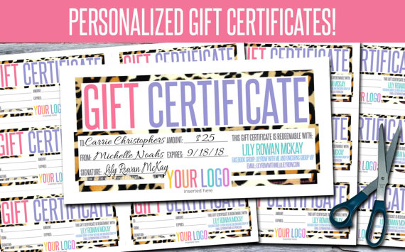 Gift Certificates Personalized Print Your Own GFC06 Lularoe - print your own voucher