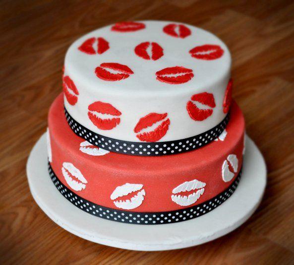 Kisses Cake Lips Cake Torta De Besos Torta De Labios Sweet