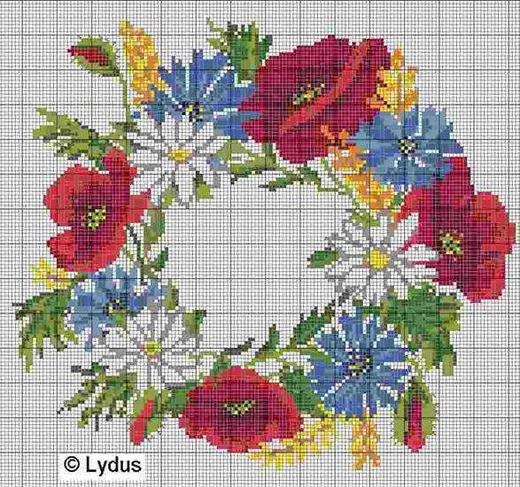 Maki Kwiaty Izyda55 Chomikuj Pl Strona 23 Cross Stitch Flowers Cross Stitch Embroidery Cross Stitch