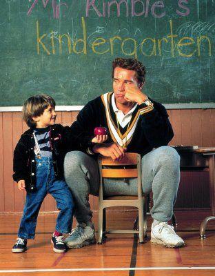 Kindergarten Cop Promo, Arnold Schwarznegger & Miko Hughes