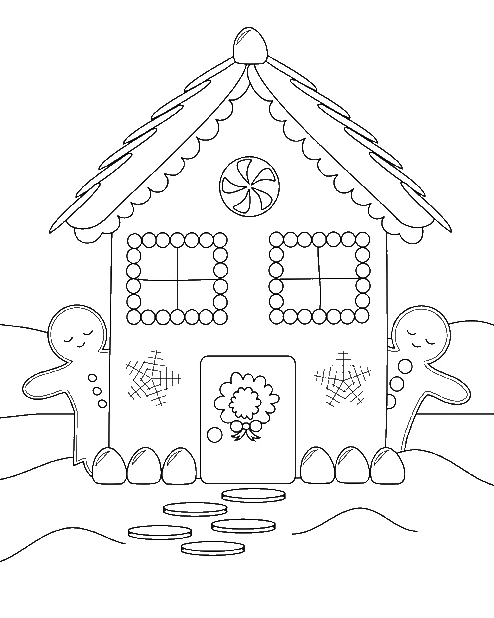 Free Printable Gingerbread Coloring Page