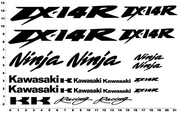 Kawasaki ZX 14R Ninja Decals Graphics Stickers ZX14R