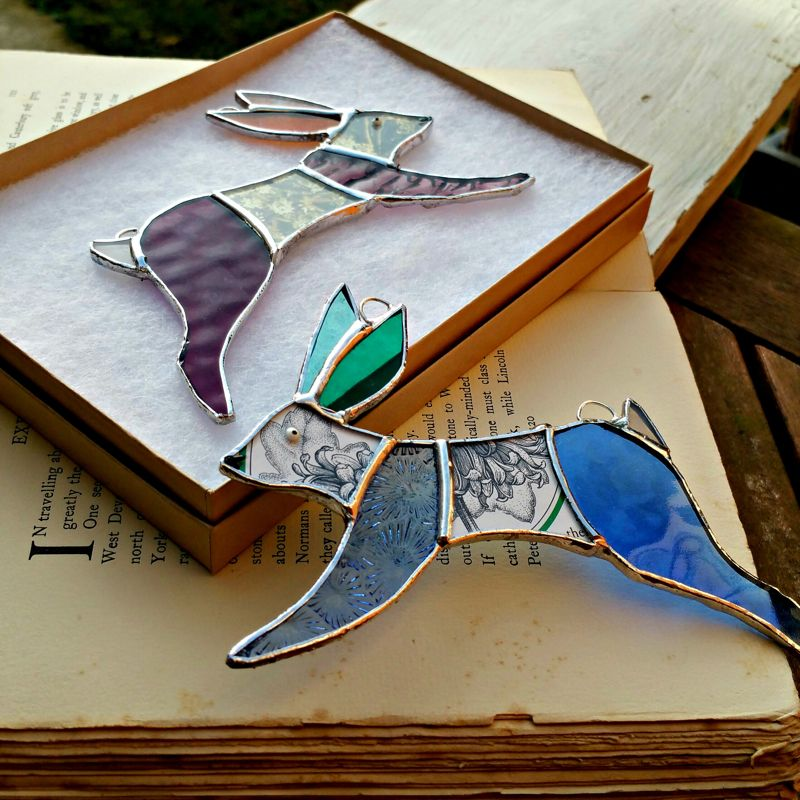 Meet the creator of these beautiful stained glass hares