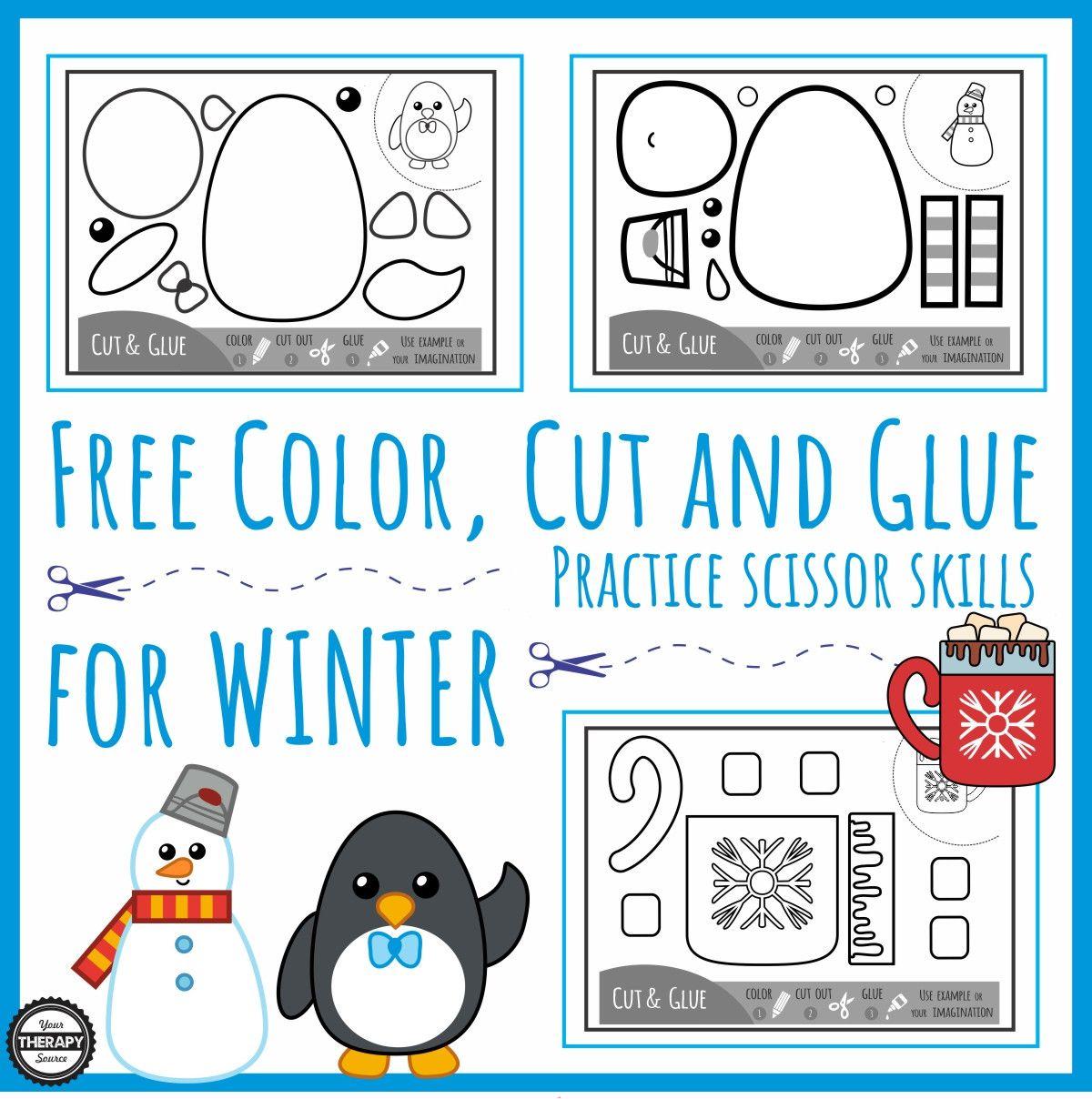 Animals In Winter Worksheet Scissor Practice Winter Kindergarten Kindergarten Activities [ 1208 x 1200 Pixel ]