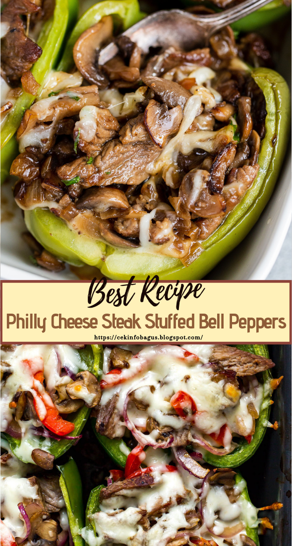 Philly Cheese Steak Stuffed Bell Peppers Healthyfood Dietketo Pepper Recipes Healthy Stuffed Peppers Healthy Steak