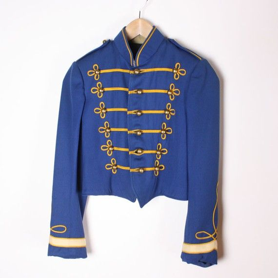 Vintage 1959 Blue Marching Band Jacket Inspiration