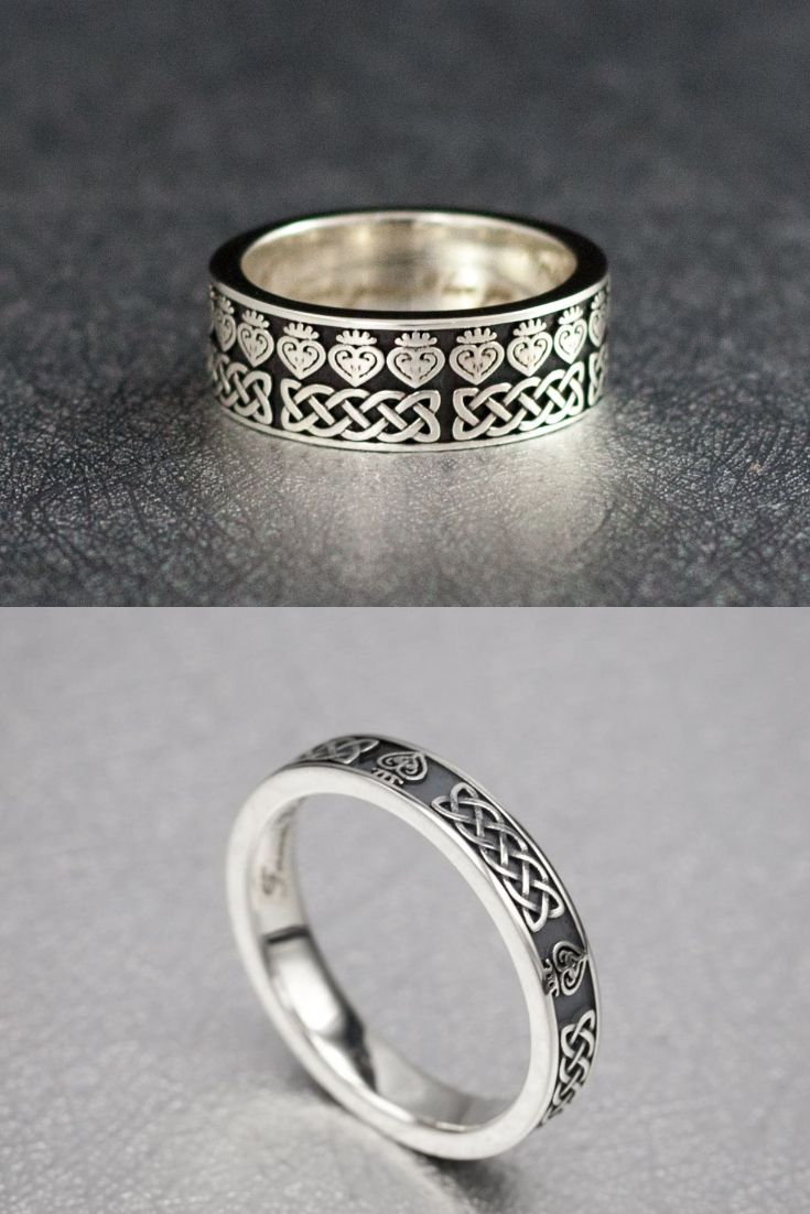 It is just a graphic of These beautiful matching wedding bands feature the blending of