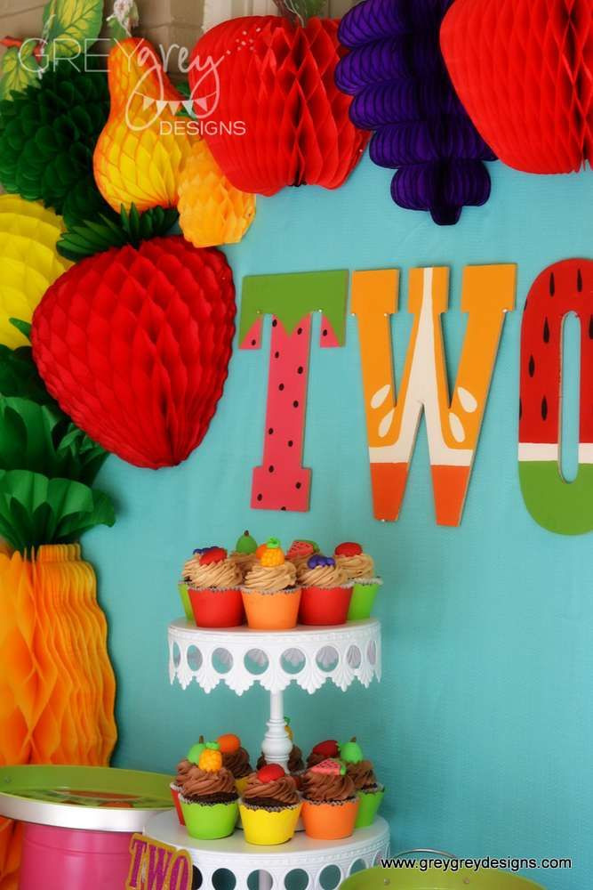 Fruit Birthday Party Ideas In 2019 Girl Birthday Party