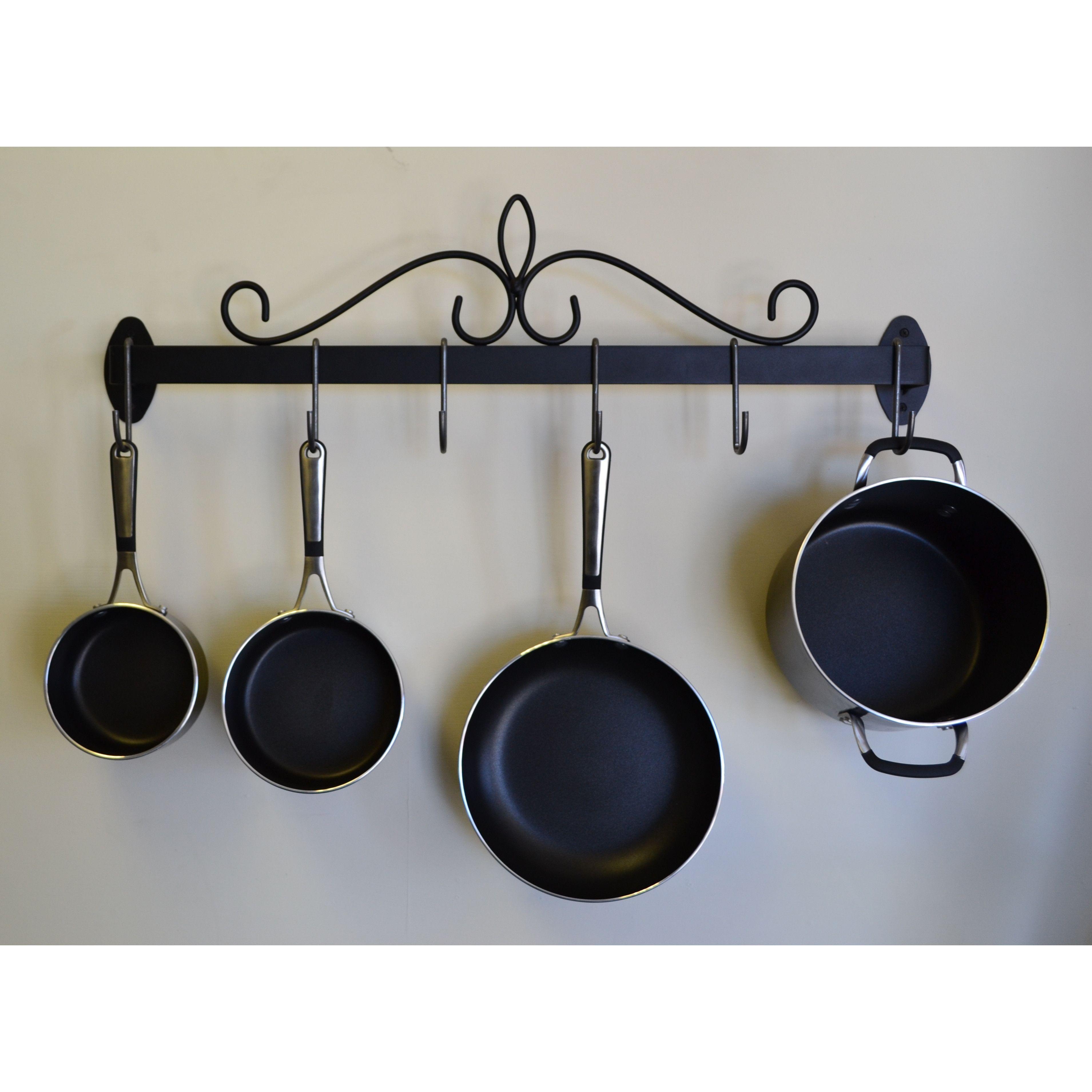 J & J Wire Wall Pot and Pan Rack | kitchen ideas | Pinterest
