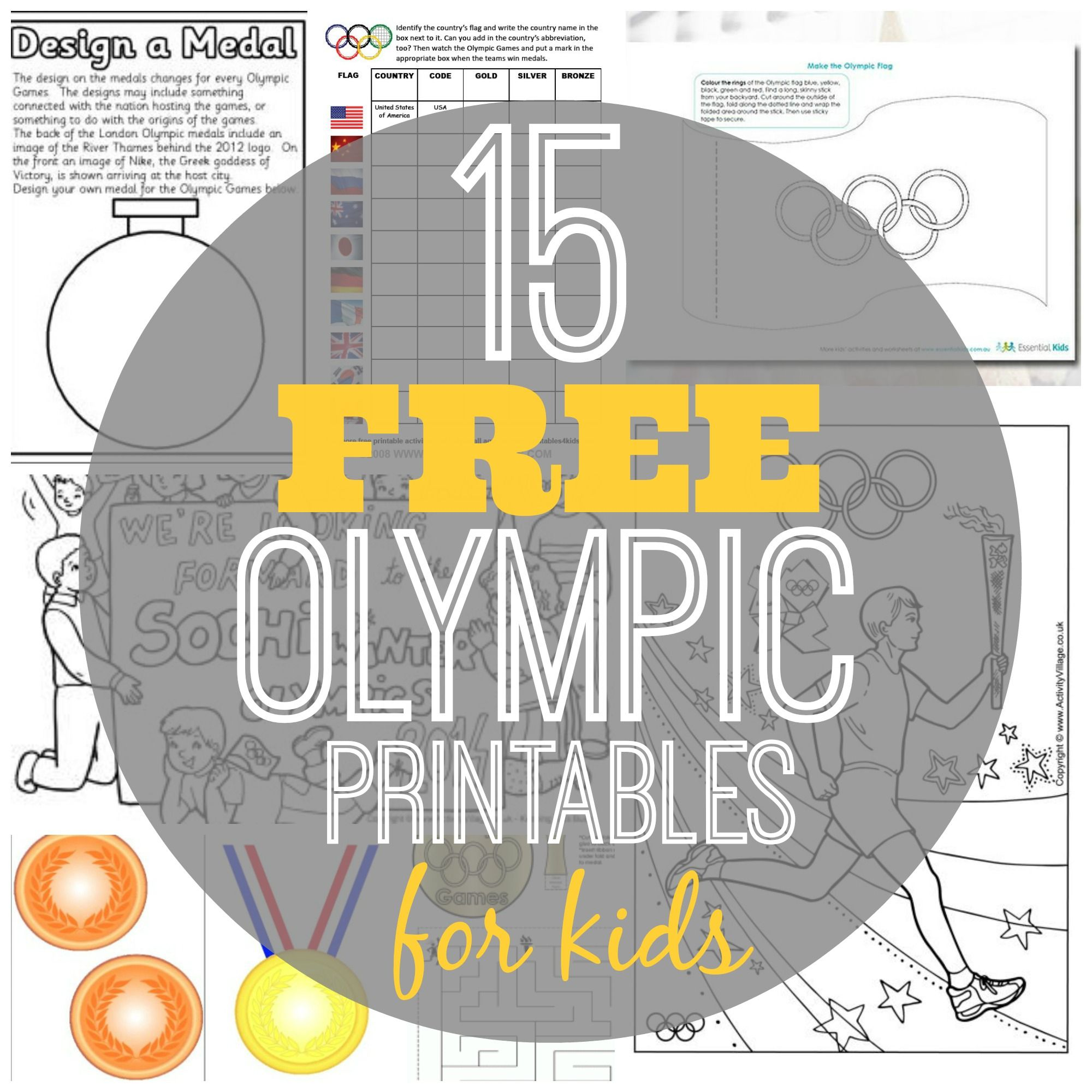 15 Free Olympic Printables for Kids Kids olympics