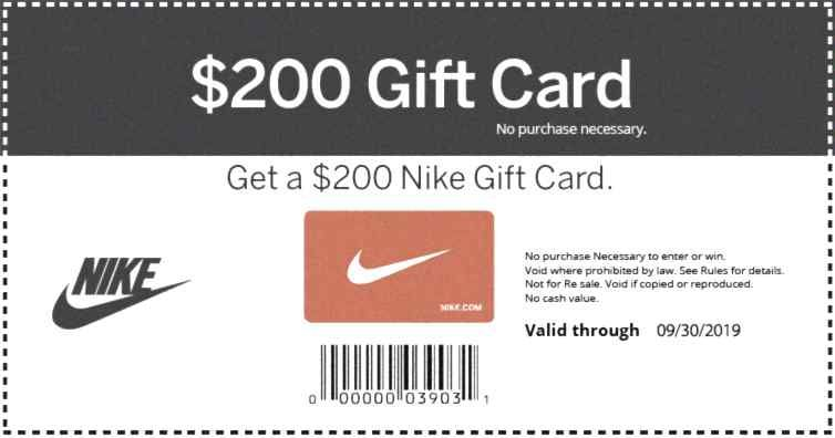 Get your card one per person nike gift card nike