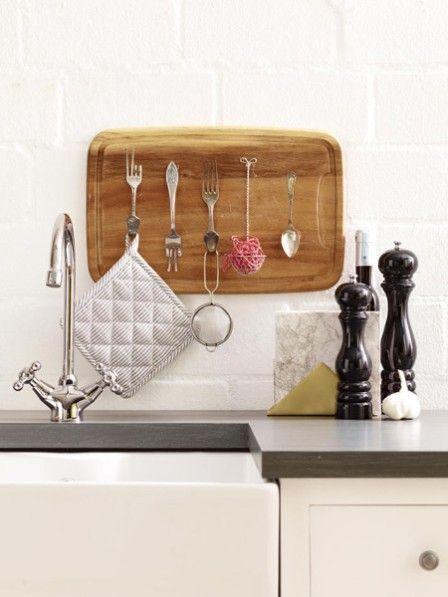 Upcycling mit Besteck Wir bauen ein Küchenregal Pinterest - küchenregal selber bauen