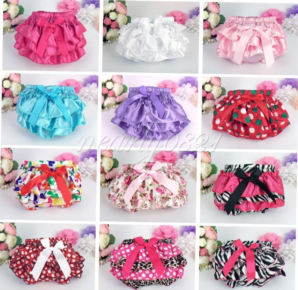 Infant Toddlers Girls Ruffle Bloomer Briefs Nappy Diaper Cover Panties Headband