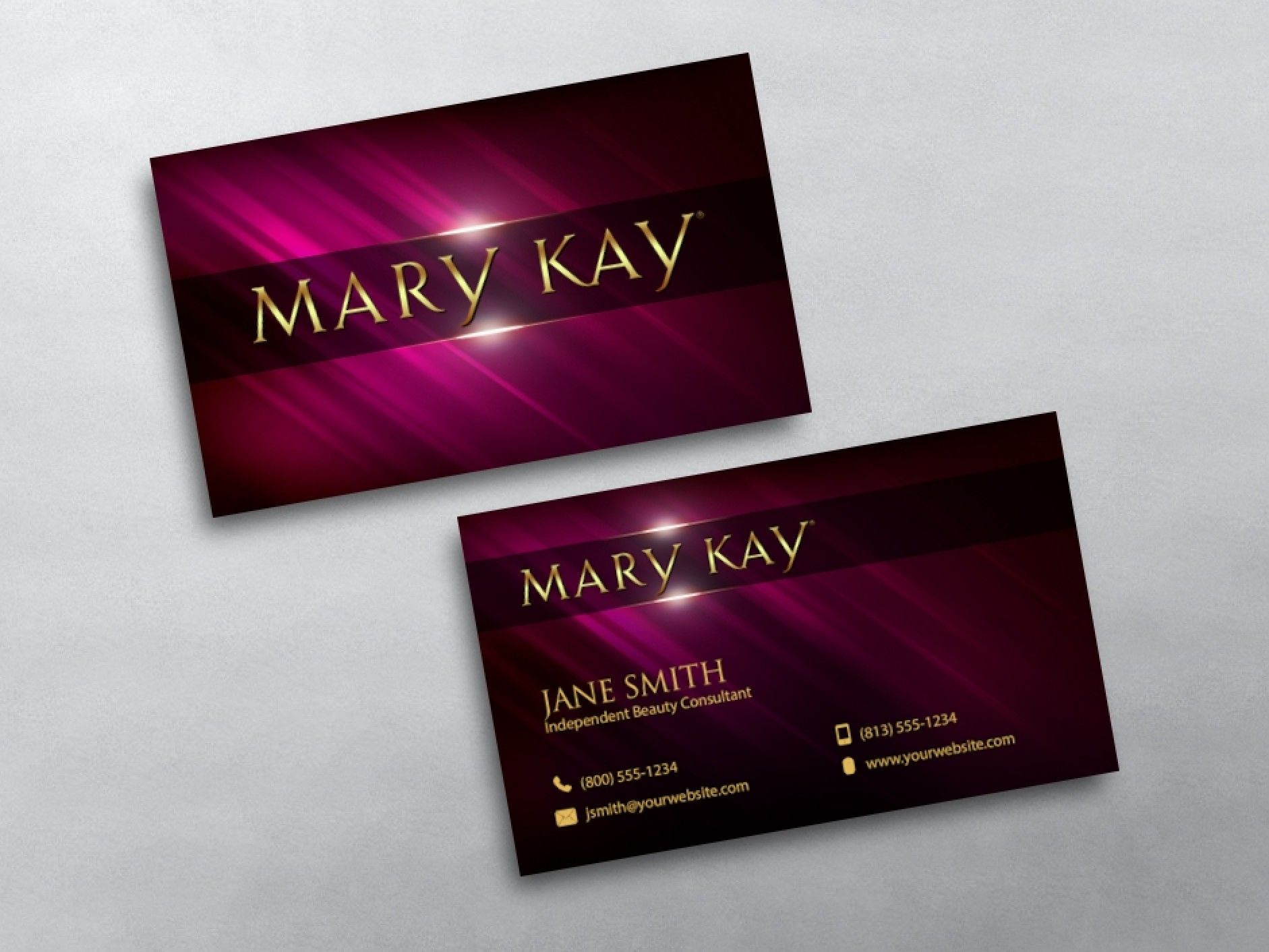 Mary Kay Business Cards in 2020 Free business cards