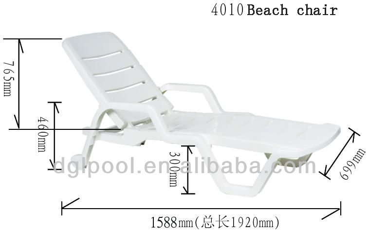 Merveilleux Dimensions For Beach Chair   Google Search Folding Beach Chair, Beach Lounge  Chair, Pool