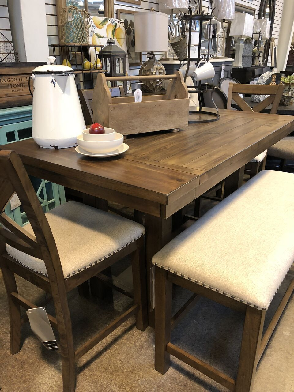 Moriville Counter Height Table And 4 Stools Dining Table With