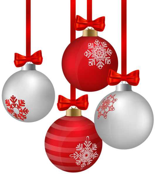 White And Red Hanging Christmas Ornaments Png Clipart Image Red Christmas Ornaments Christmas Ornaments To Make Christmas Ornaments