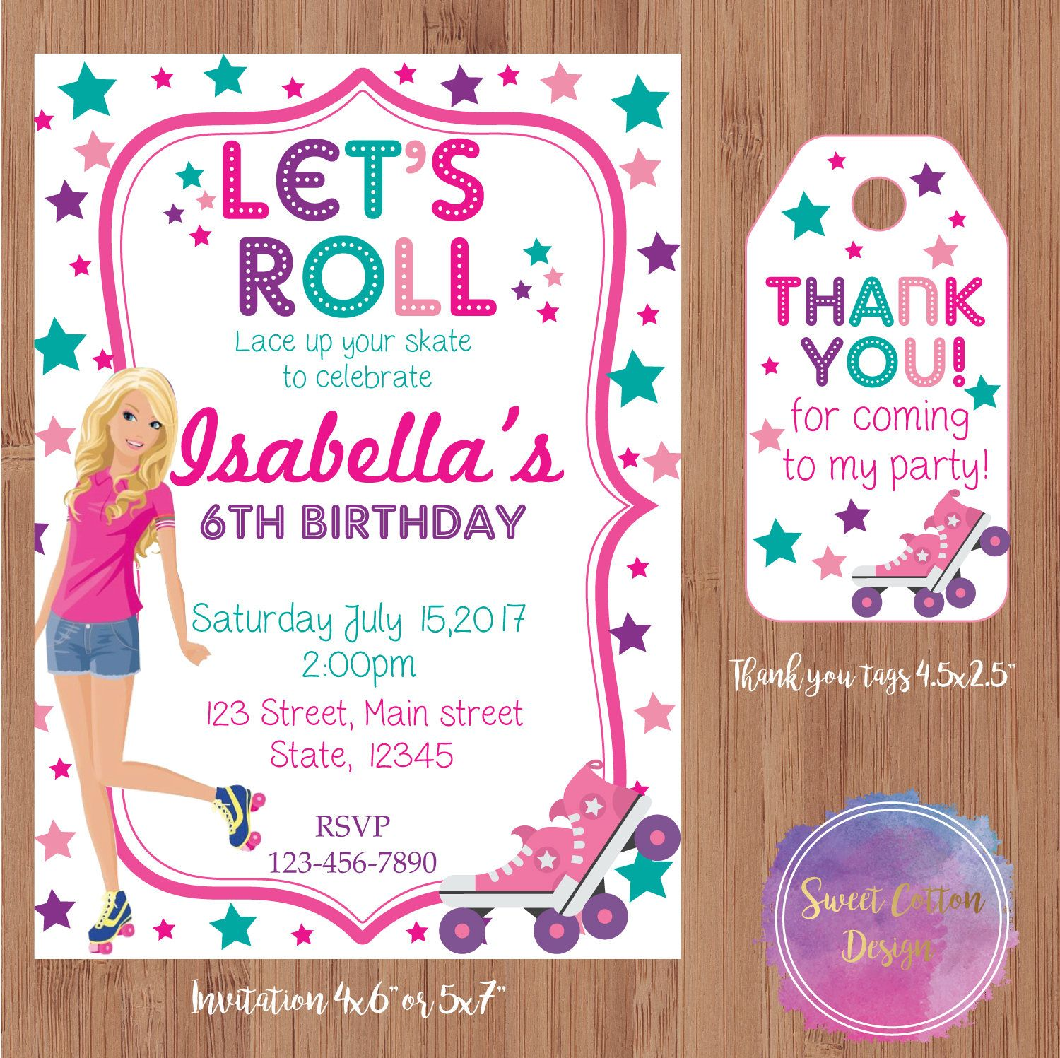 Roller Skating Invitation | Roller Skating Party | Skate Party ...