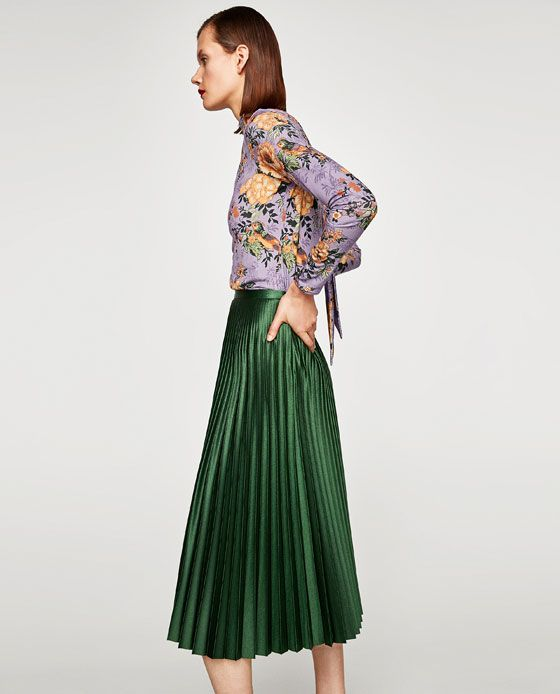 149ab24ae7 Image 4 of PLEATED MIDI SKIRT from Zara | Styling+Modeling | Pleated ...
