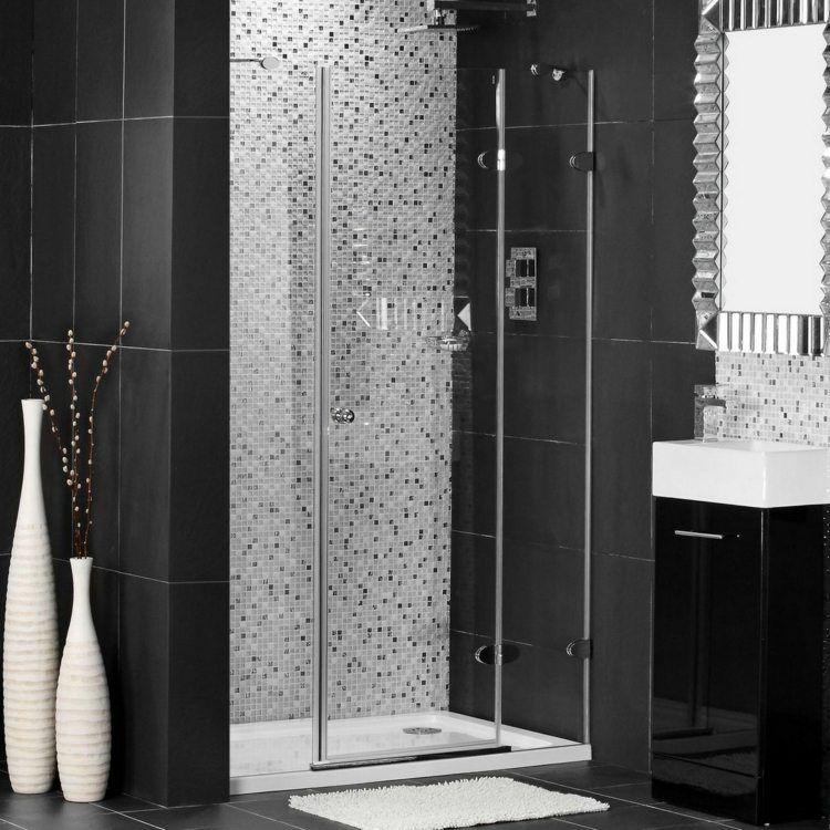 Salle de bain noir et blanc une pièce élégante et moderne Bath