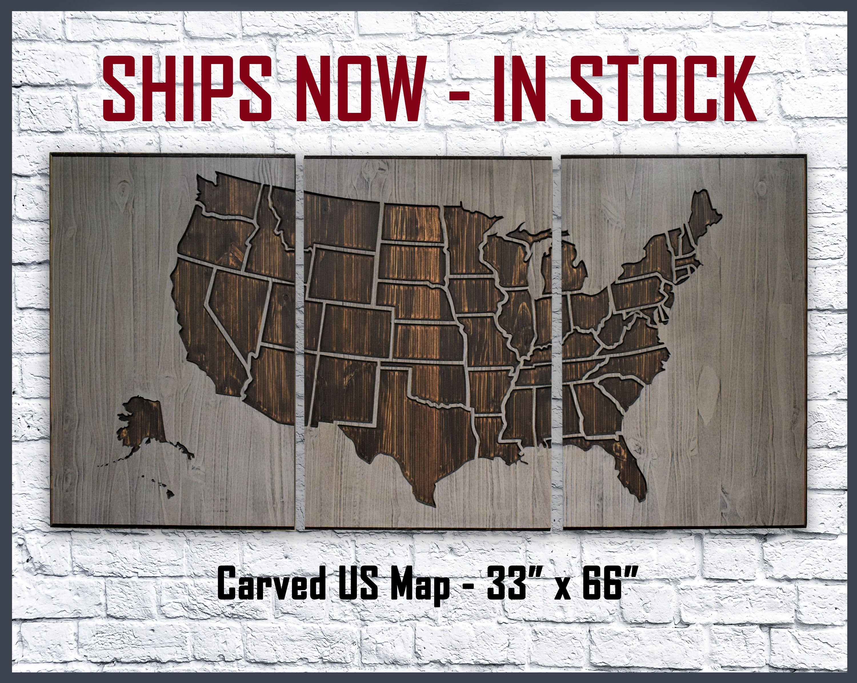 US Map Wall Art Home u0026 Office